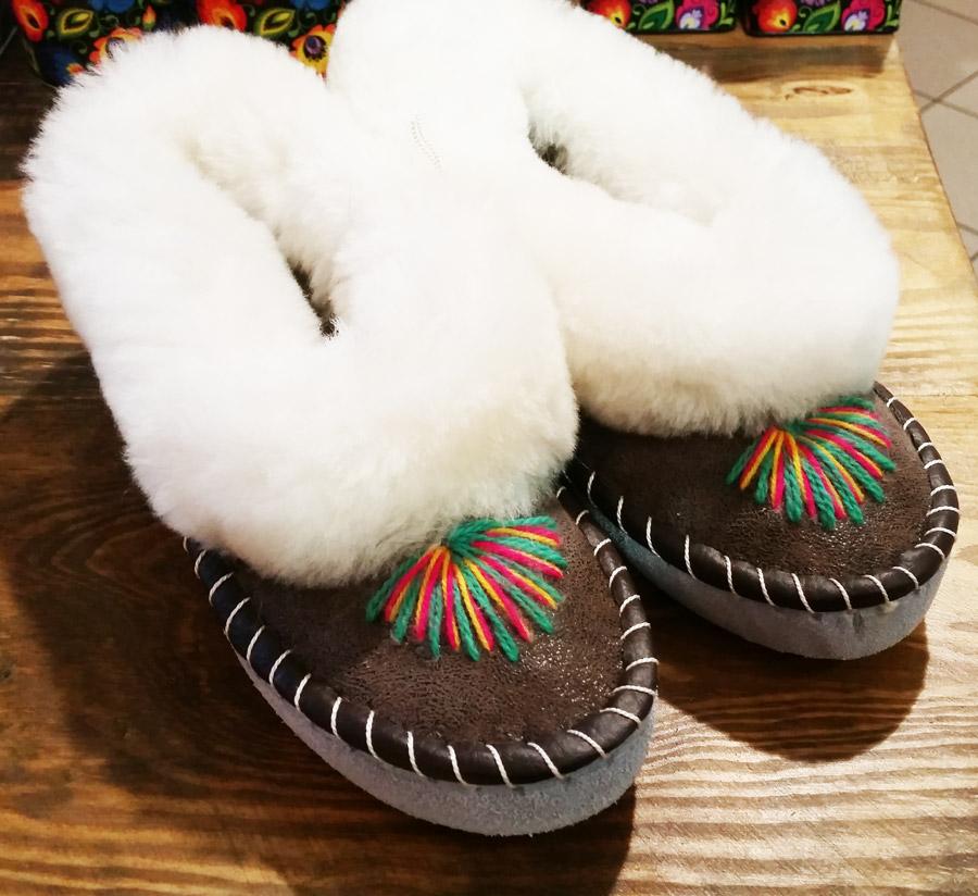 Pantofle góralskie