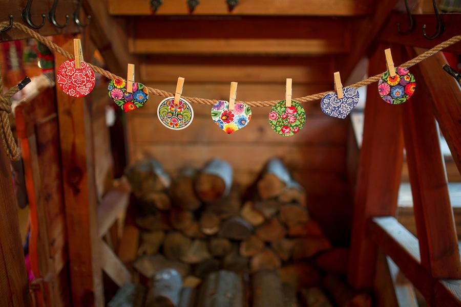 Folk ozdoby choinkowe zawieszki na choinkę