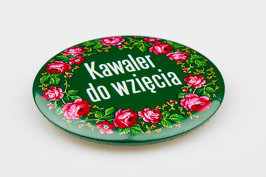Przypinka KAWALER DO WZIĘCIA góralska zielona