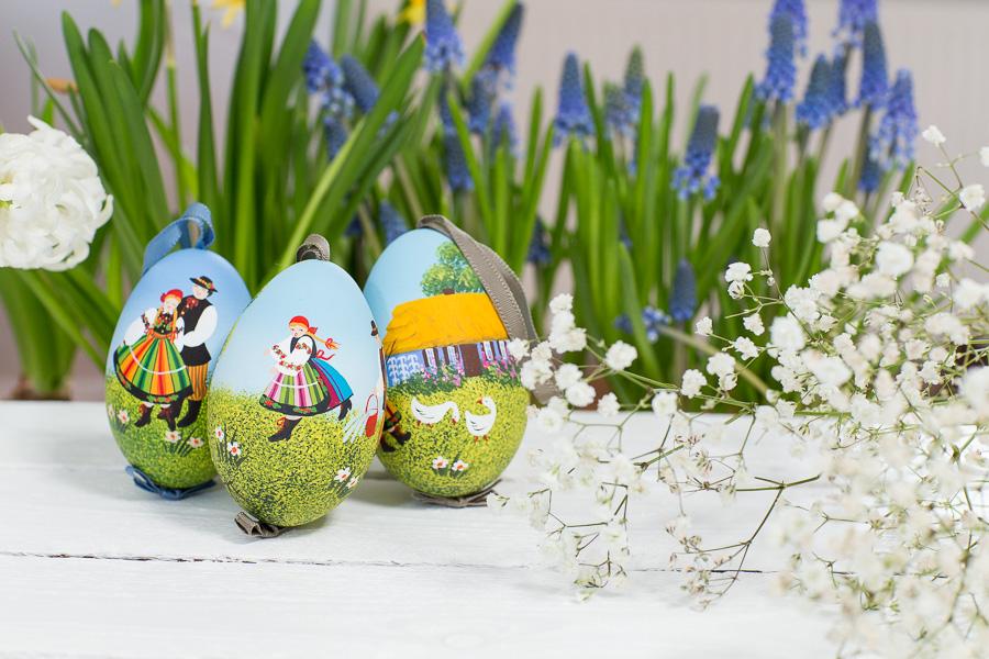 Gęsie jajo ręcznie malowane śmigus dyngus