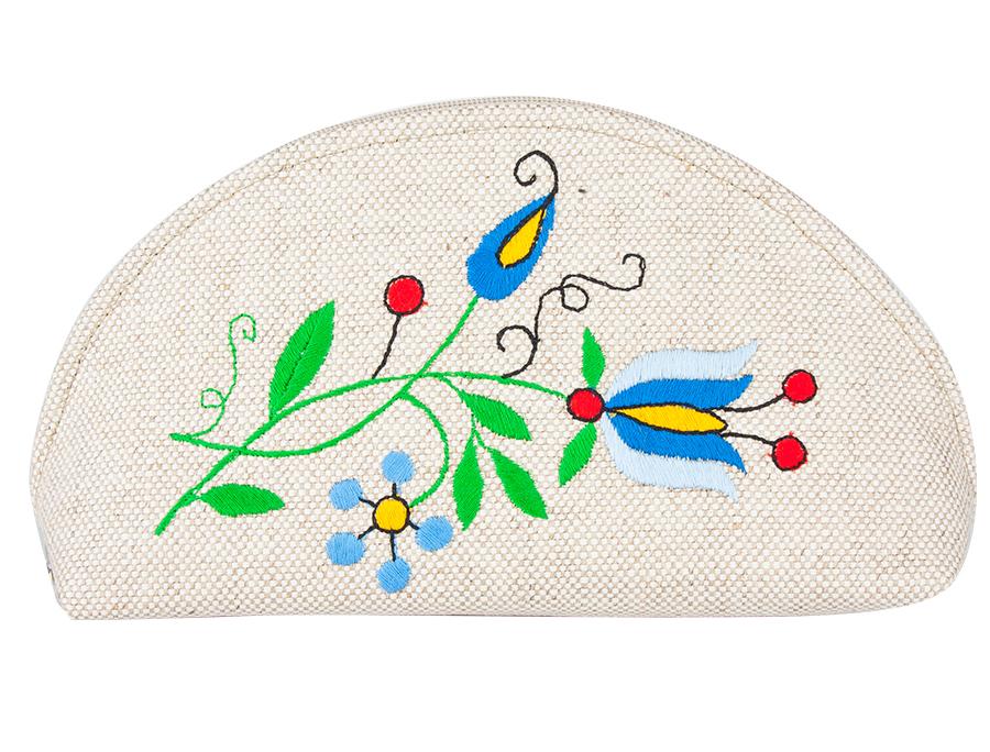 Kosmetyczka z haftem kaszubskim