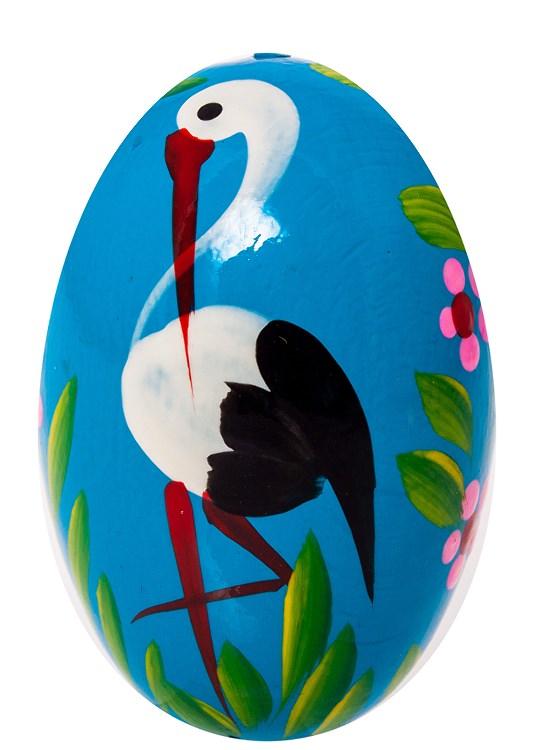 Drewniane jajko ręcznie malowane