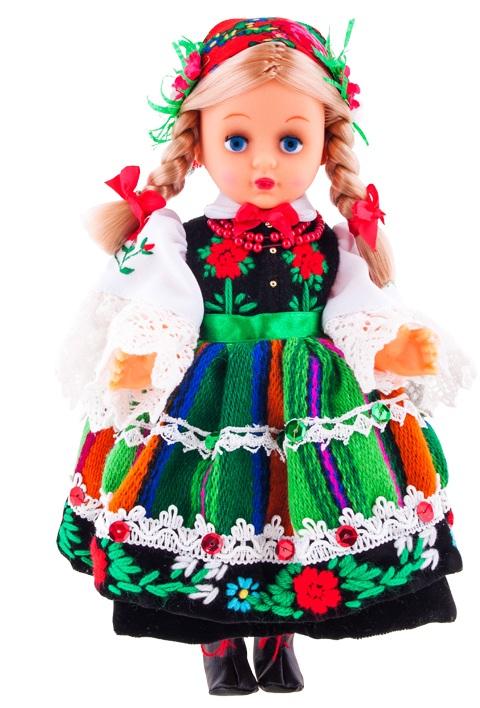 Lalka w stroju łowickim