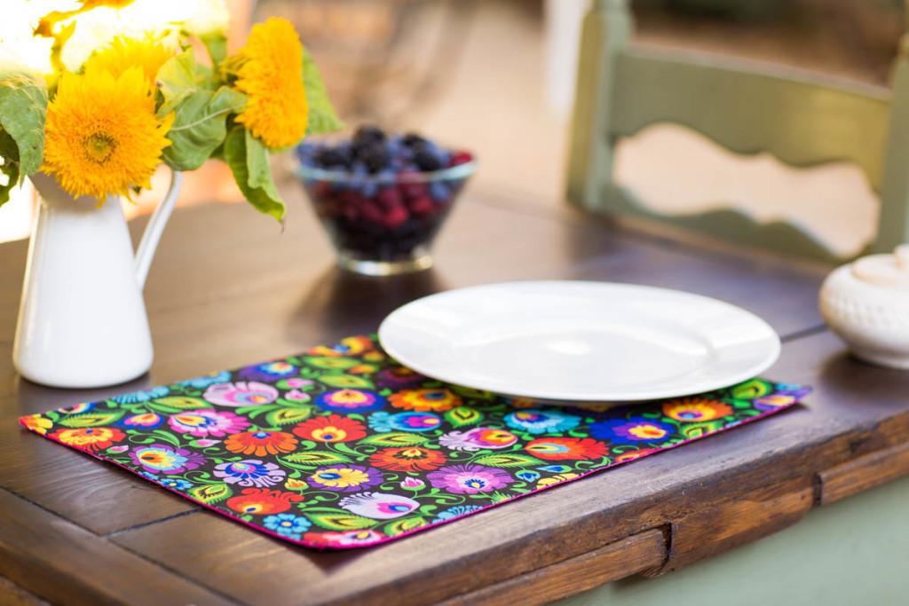 Kuchenne tekstylia w folk stylu - podkładka stołowa