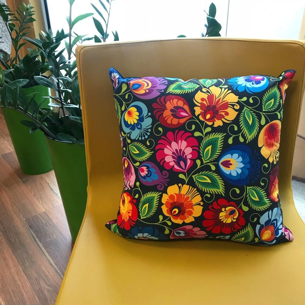 Poduszka dekoracyjna FOLK we wzory opolskie
