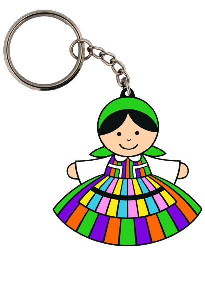 Opoczonianka w stroju ludowym - FOLK brelok z tradycyjnym wzorem