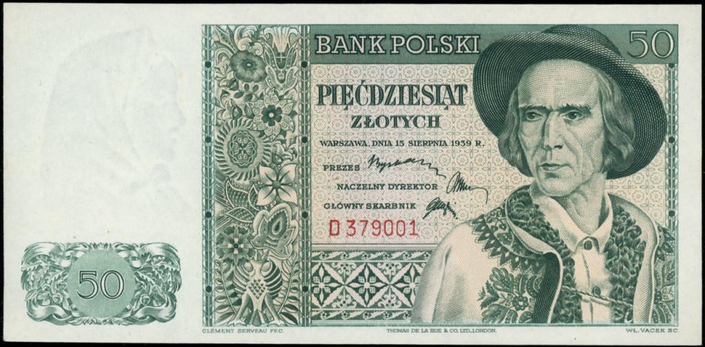 Zygmunt Kamiński, banknot 50-złotowy