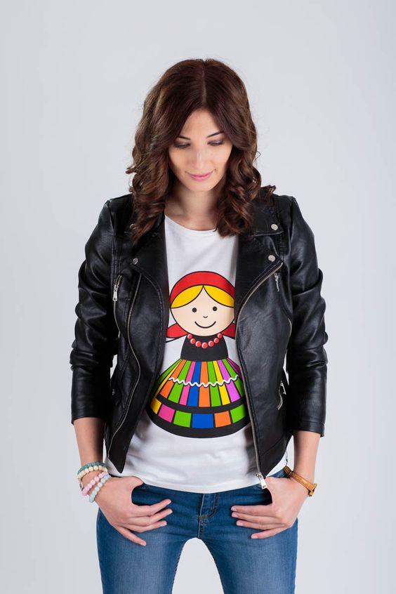FOLK koszulka damska