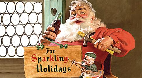 Jedna z pierwszych reklam Coca Coli z Mikołajem