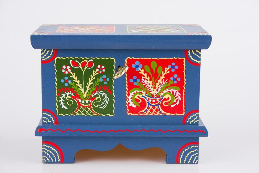 Skrzynie ludowe drewniane ręcznie malowane