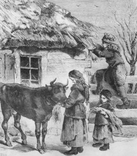 Koniec zimy i początek wiosny był najtrudniejszym czasem dla mieszkańców wsi
