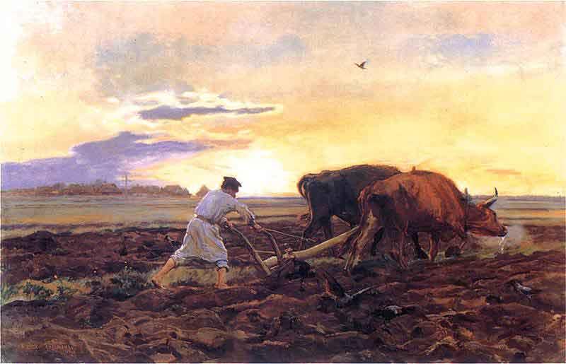 """Józef Chełmoński """"Orka"""" (1896), Muzeum Narodowe w Poznaniu"""