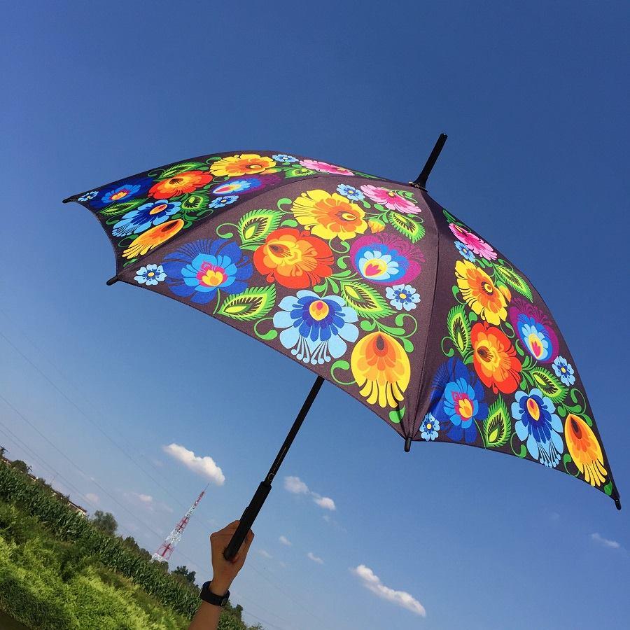Parasolka we wzory łowickie.