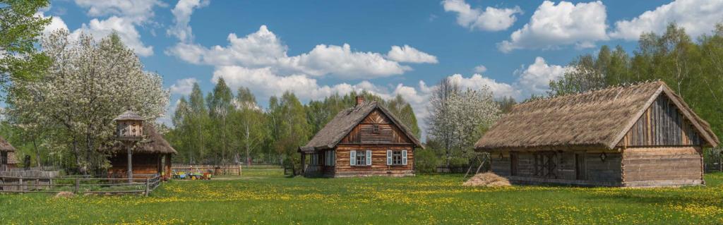 Skansen prezentuje zabytki z terenu Podlasia
