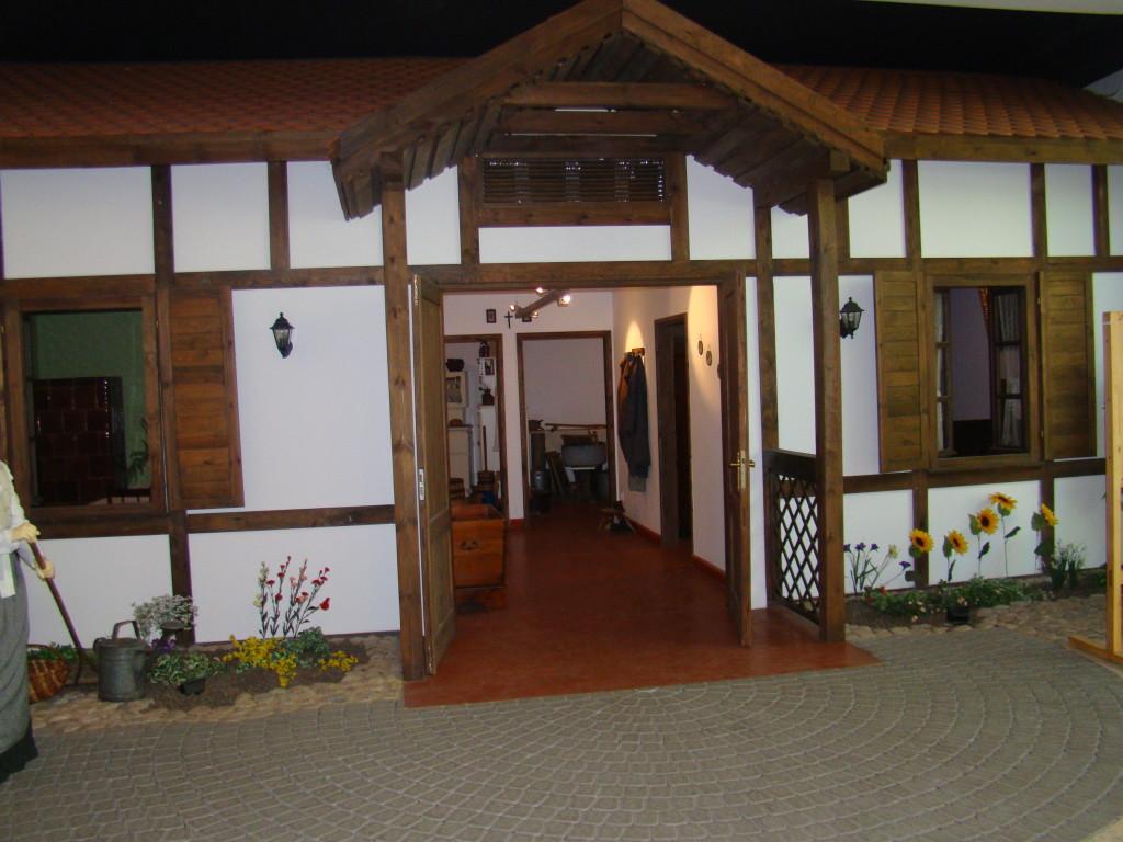 Rekonstrukcja bamberskiej chaty w Muzeum Bambrów Poznańskich w Poznaniu