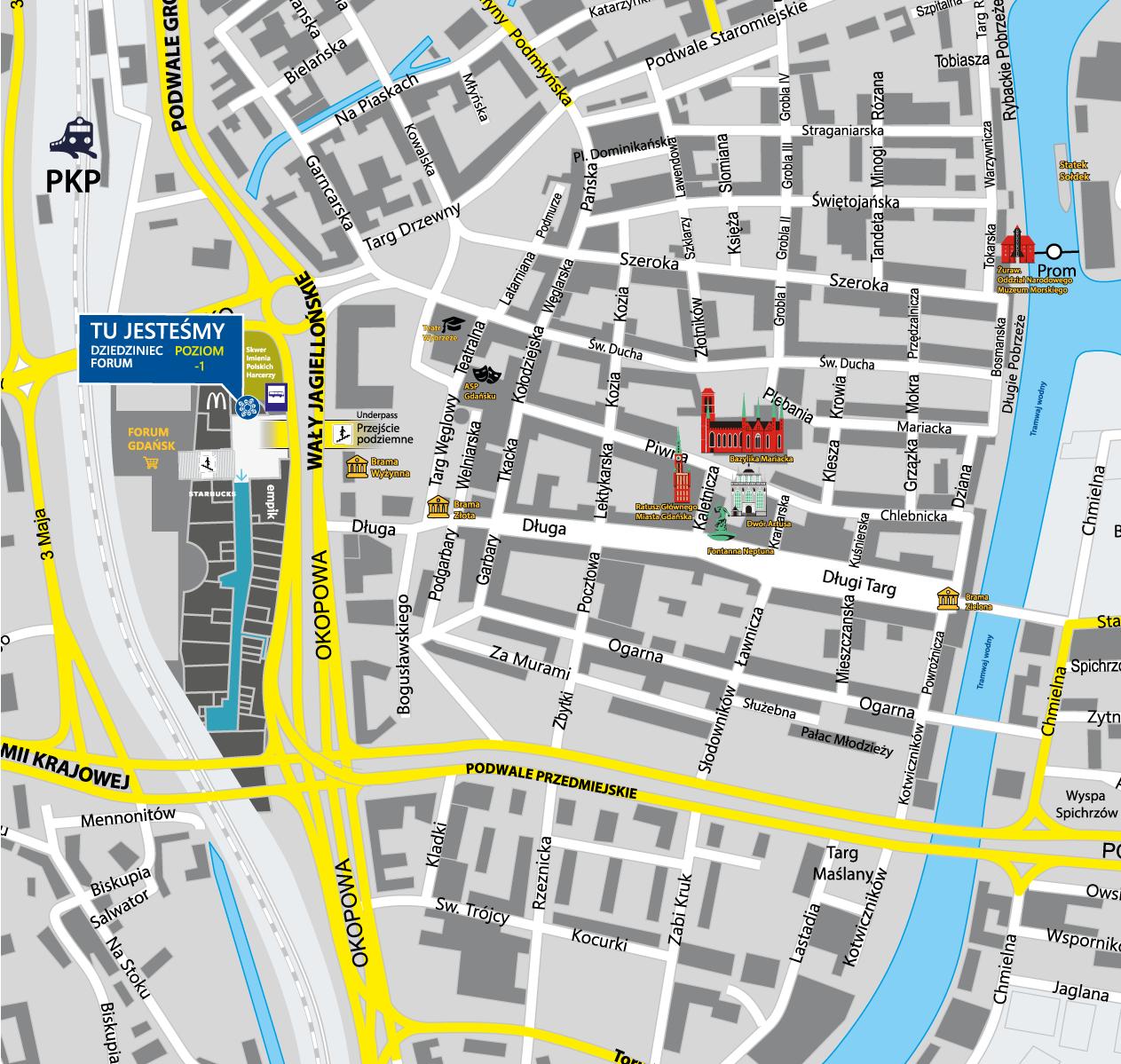 Mapa - jak trafić do Folkstar w Gdańsku