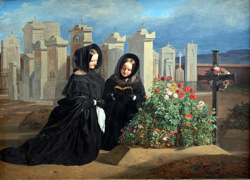 Zaduszki. Ferdinand Waldmüller, 1839