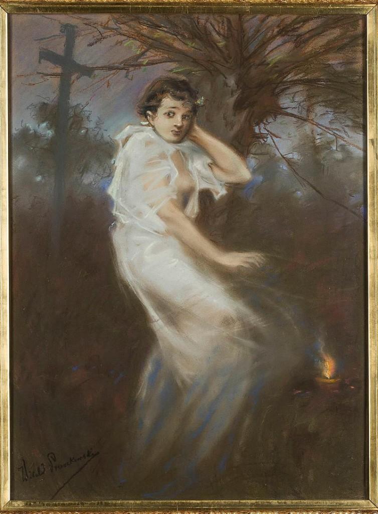 Zaduszki. Godzina duchów. Witold Pruszkowski (1888)