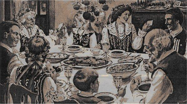 Obfite posiłki miały zapewnić sytość na czas całego postu.