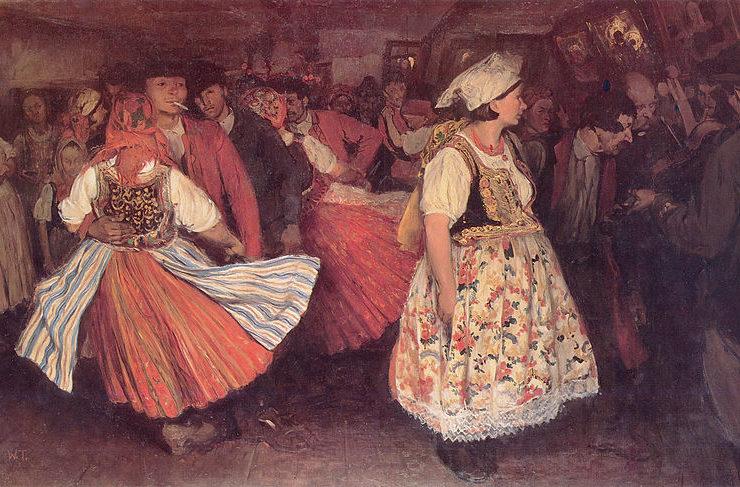 Ludowy karnawał był okresem, w którym chętnie tańczono i bawiono się