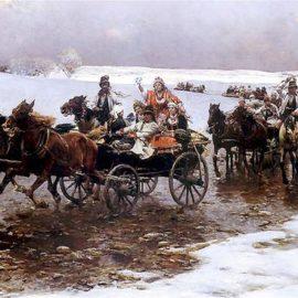 Zimą chętnie bawiono się także na zabawach weselnych