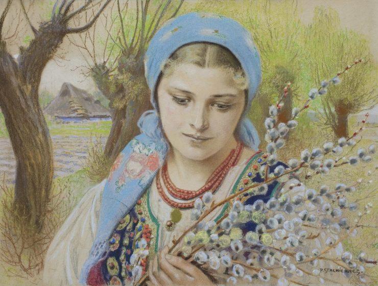 Kobieta w stroju krakowskim