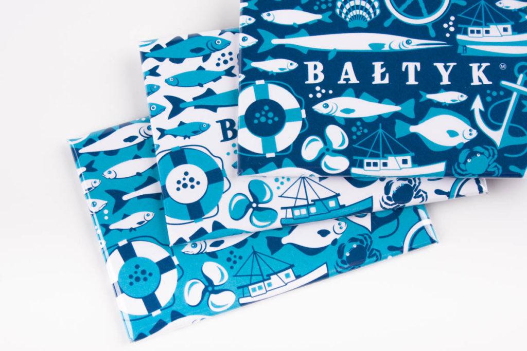 Magnesy ze ozdobione wzorem Bałtyk
